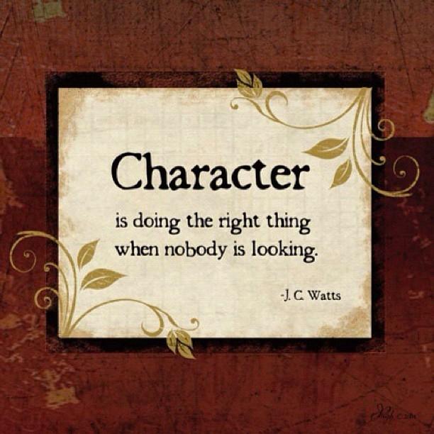 CharacterIsDoingTheRightThingWhenNobodyIsLooking